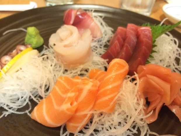Sashimi Combination - salmon, tuna, snapper, conch,