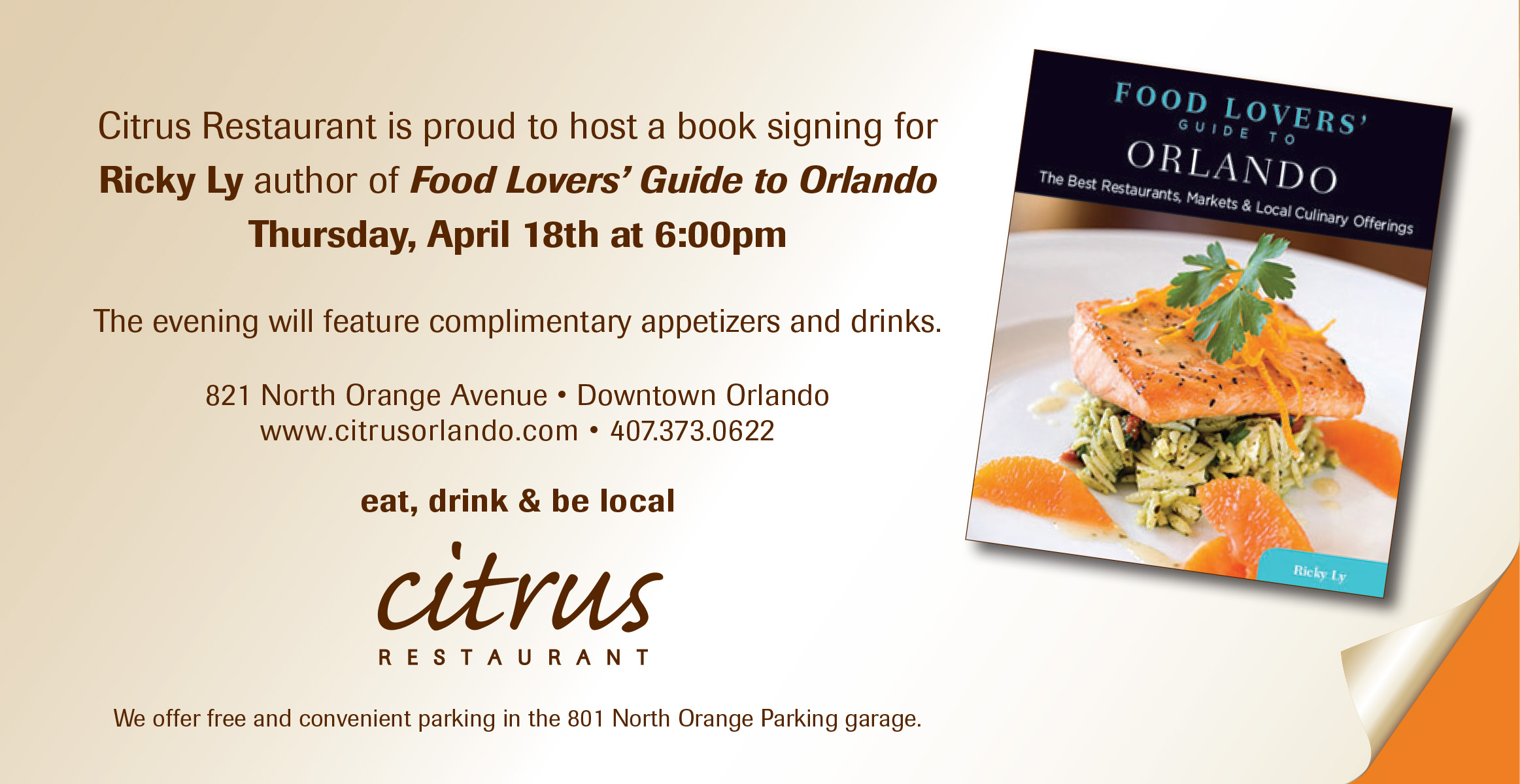 Official food lovers guide to orlando book signing party citrus you forumfinder Images