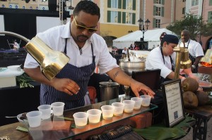 Chef Kevin Sbraga and his foie gras soup