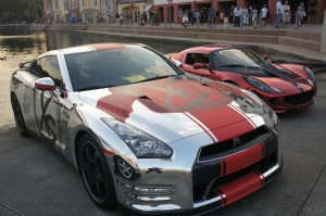 Nissan GTR and a Lotus