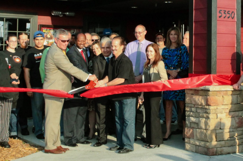 Mayor Buddy Dyer and Commissioner Samuel B. Ings at the ribbon cutting