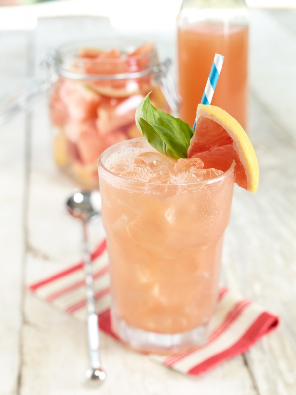 Grapefruit Basil cocktail
