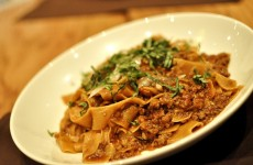 Bolognese - smoked red pepper pappardelle, shaved grana padano