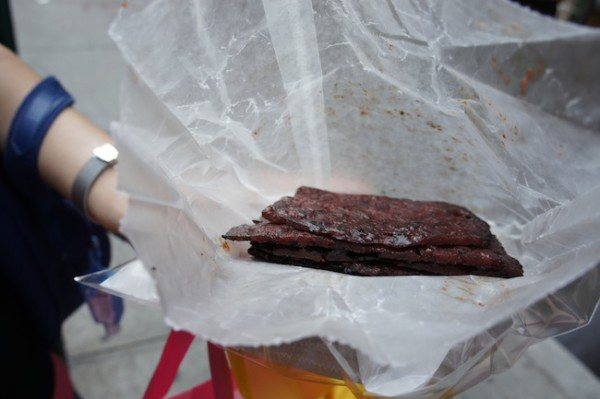 Malaysian Beef Jerky in Chinatown