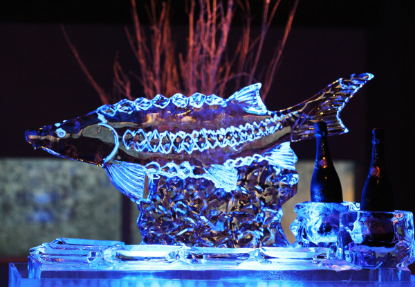 Fish Ice Sculpture