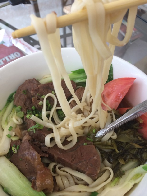 Taiwanese Beef Noodle Soup at Taipei 101