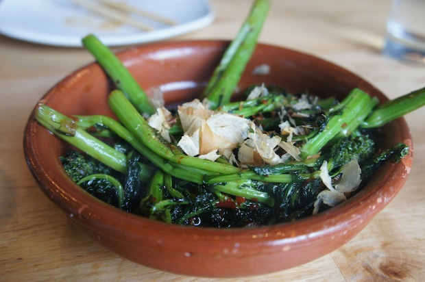 Roasted broccoli rabe (chilies, yuzu soy butter) - slightly too much soy / saltiness but still good.