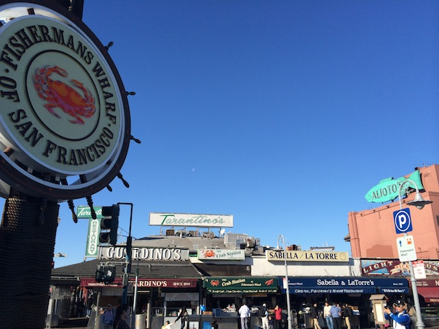 Fisherman's Wharf in San Francisco bay