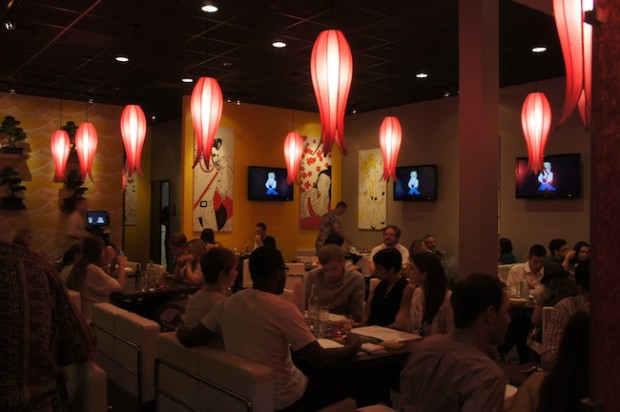 Interior of Sushi Pop
