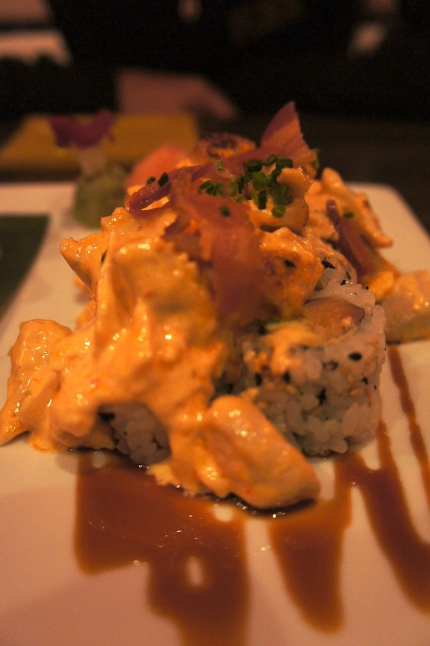 Sushi Pop's hot mess roll
