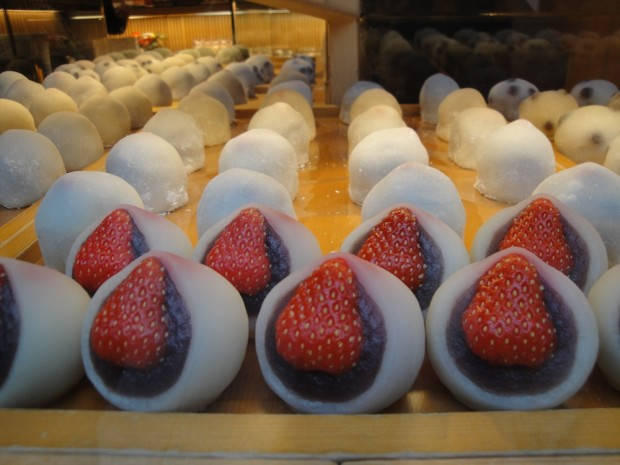 Strawberry mochi in Ginza  - Tokyo, Japan