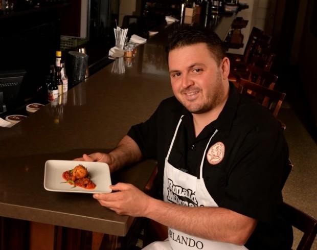 Chef James Petrakis – Cask & Larder – Brandade Fritter, Smoke Tomato Bolognese