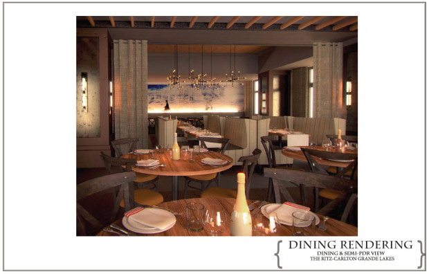 Dining Room Rendering of Highball and Harvest at Grande Lakes Orlando - Ritz Carlton