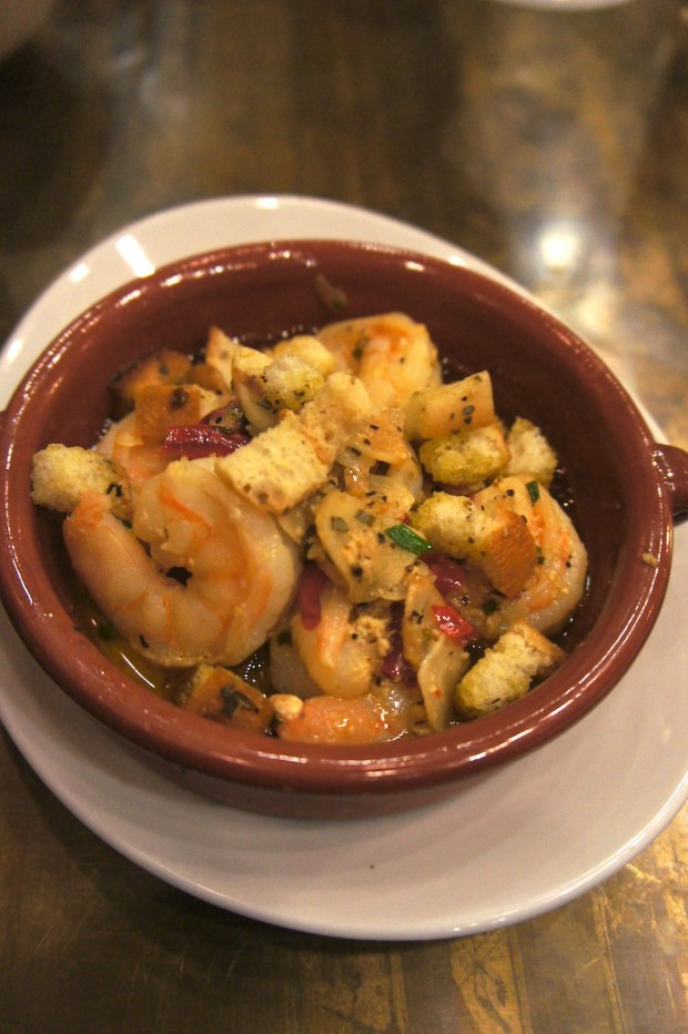 Spicy Garlic Shrimp in Tagine - more mild than spicy, but very fresh and tasty nonetheless. Loved the garlic butter on this dish.