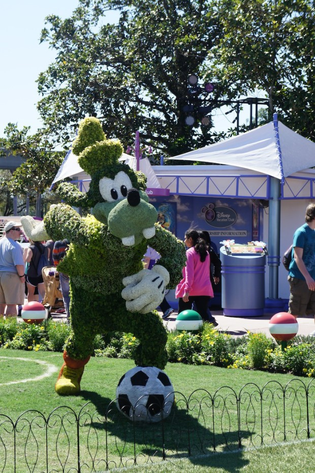 Celebrating the upcoming 2014 World Cup at Epcot