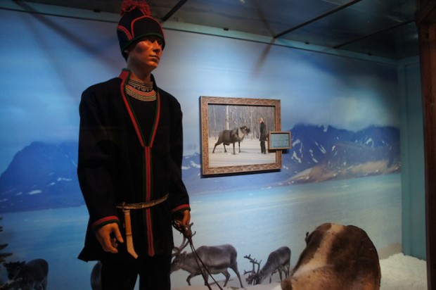 One of the costume displays for Scandinavian culture