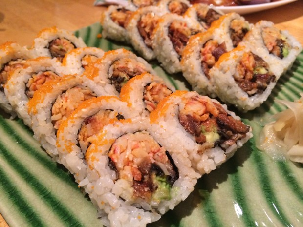 """Crazy Roll"" - with eel and krab"