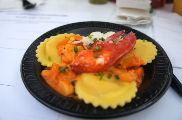 Lobster ravioli from Bar Harbor