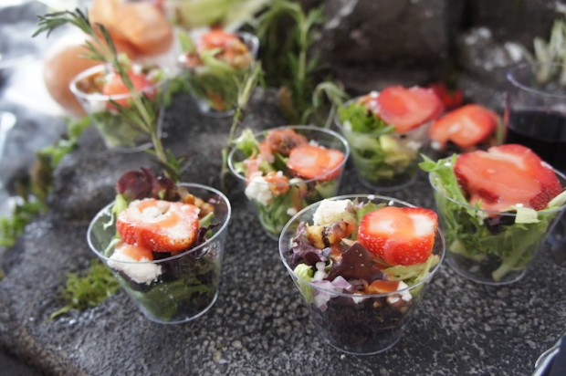 The Hangar strawberry salad