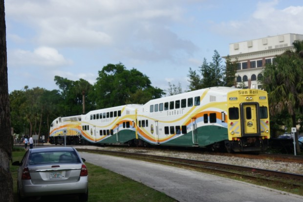 Sunrail - still on practice run - officially open May 1st - first two weeks in May is free to ride!
