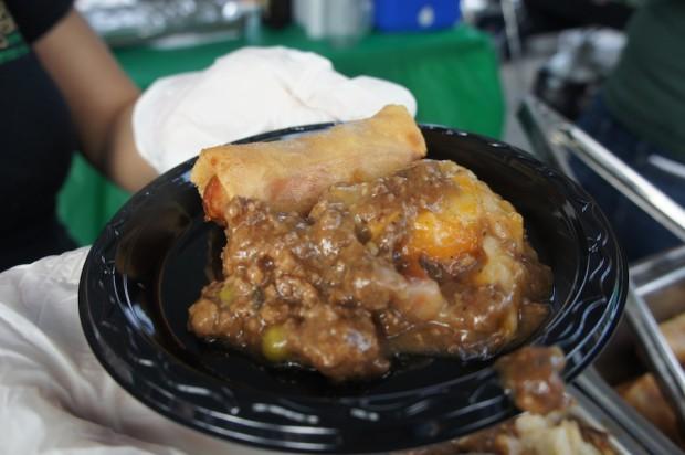 Fiddler's Green Irish Pub - Shepherd's Pie and Corned beef egg roll