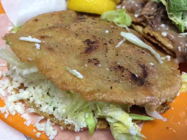 Gordita - fried tortilla taco sandwich