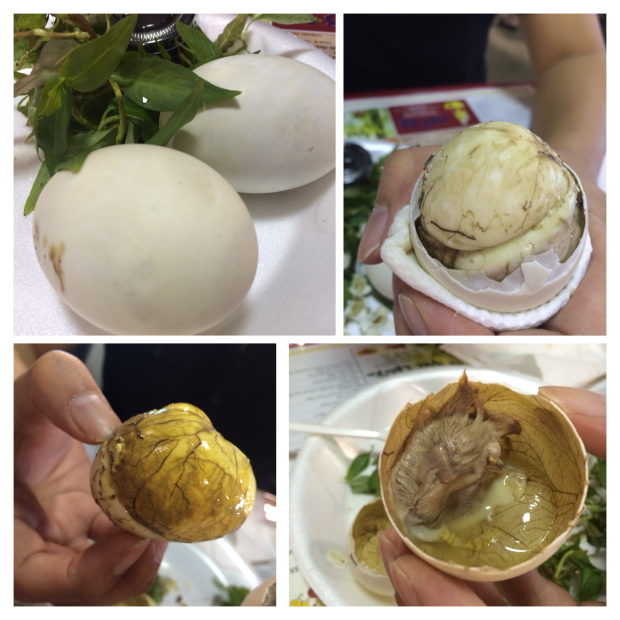 Hot Vit Lon aka Balut aka fertilized duck fetus egg