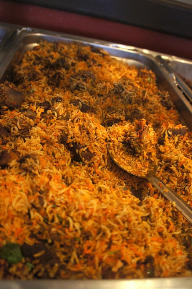 Goat Biryani, an aromatic spiced rice dish with roots in Persia
