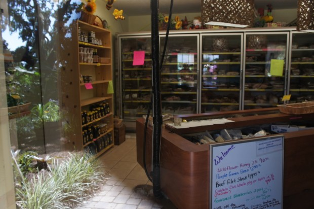 The farm store at Lake Meadow Naturals