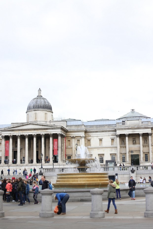 Trafalgar Square, named after the 1805 British victory