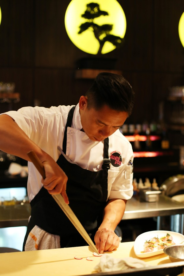 Chef Chau - focused, determined, creative and avant garde in his cuisine