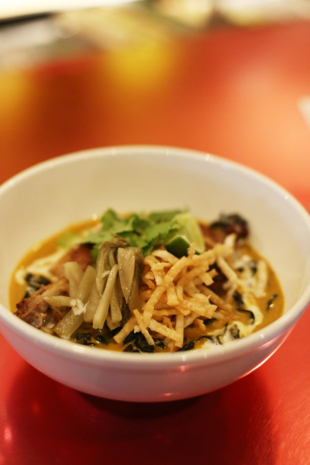 Sushi Pop's Duck Confit Khao Soi curry noodles