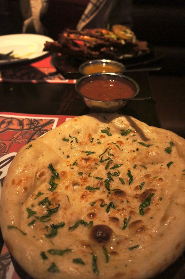 Naan bread, nice flavors from the garlic