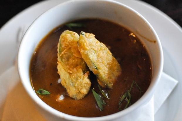Seafood Gumbo - Crab, Shrimp, Fried Okra - $7  - Photo by Krystle Nguyen