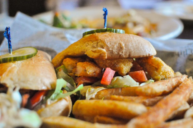 Cornmeal Crisped Shrimp Po' Boy - Lettuce, House Pickles, Kimchi Remoulade - $14 - Photo by Krystle Nguyen