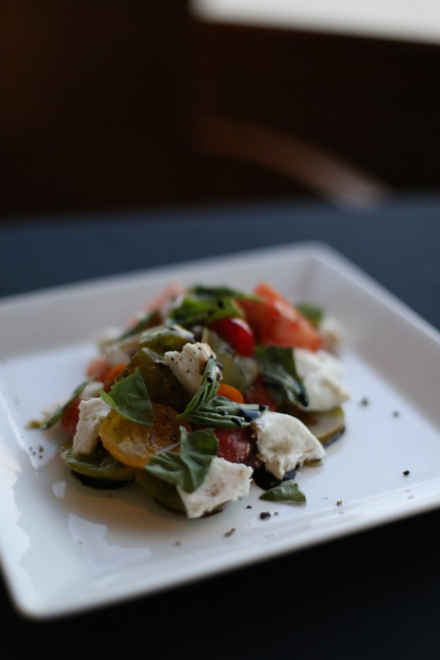 Heirloom Tomato, Local Organic Basil, Mozzarella, Organic EVOO, Balsamic, Key West Sea Salt - $9