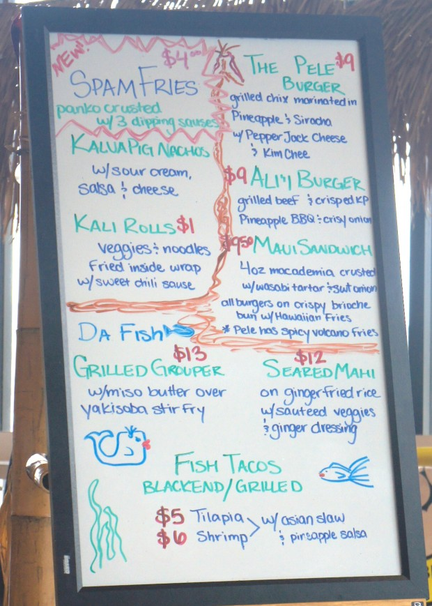 New menu items