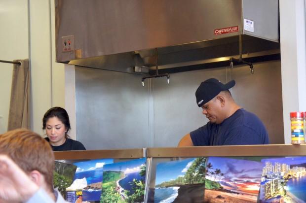 Chef Danny at the helm at Hawaiian Grindz