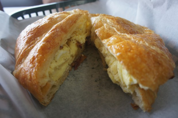 Bacon, egg, and cheese croissant - very good