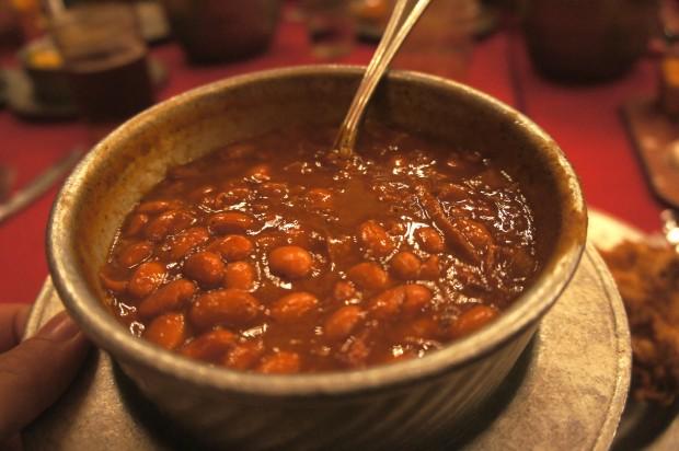 Baked beans at the Hoop-de-doo