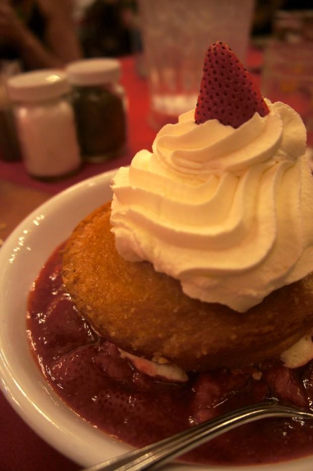 Strawberry shortcake at the Hoop-de-doo