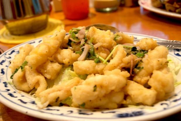 Salt and pepper calamari / squid