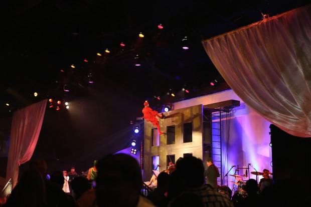 Cirque du Soleil acrobatic performances and live music