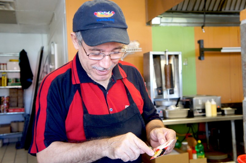 Mr. Iskender aka Alex Kurnaz of Halal Philly Cheesesteaks and Gyros
