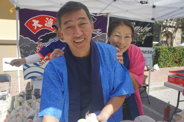 Chef Hidehiko with his wife Reiko of Sushi Tomi!