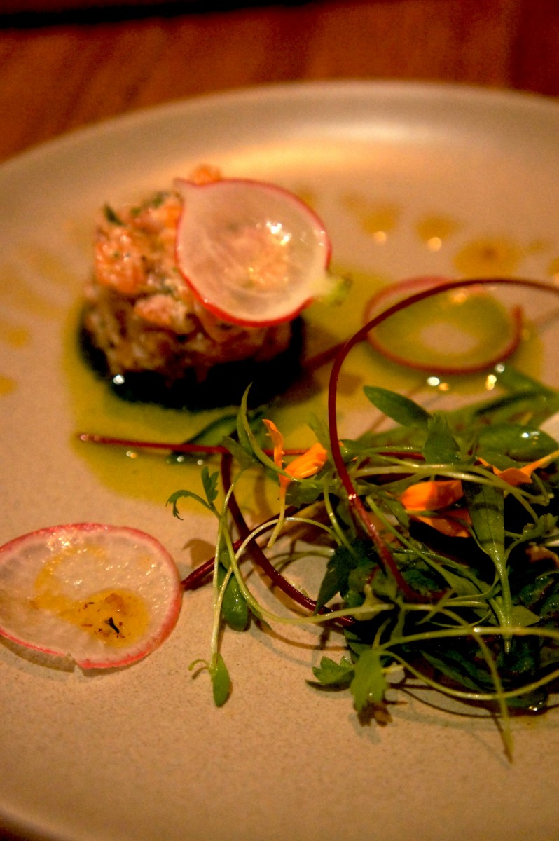 Loch Duart Salmon Tartare - Pickled ramps, salsa verde and radish - 11.oo