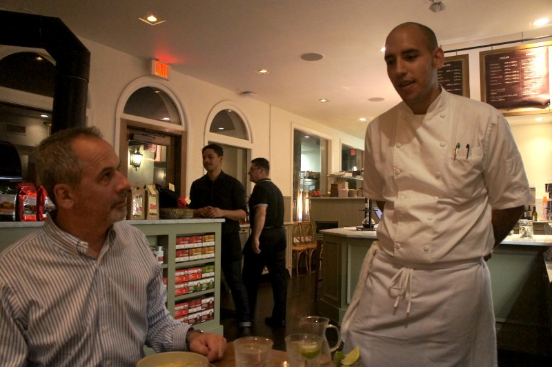 Barnie's CoffeeKitchen CEO Jonathon Smiga with Executive Chef Camilo Velasco