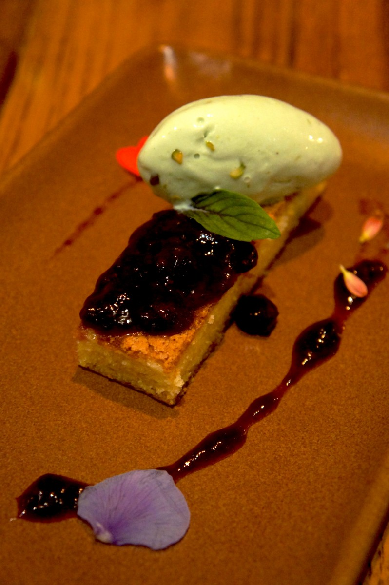 Olive Oil Cake and Sicilian Pistachio Gelato With macerated berries - 7.oo