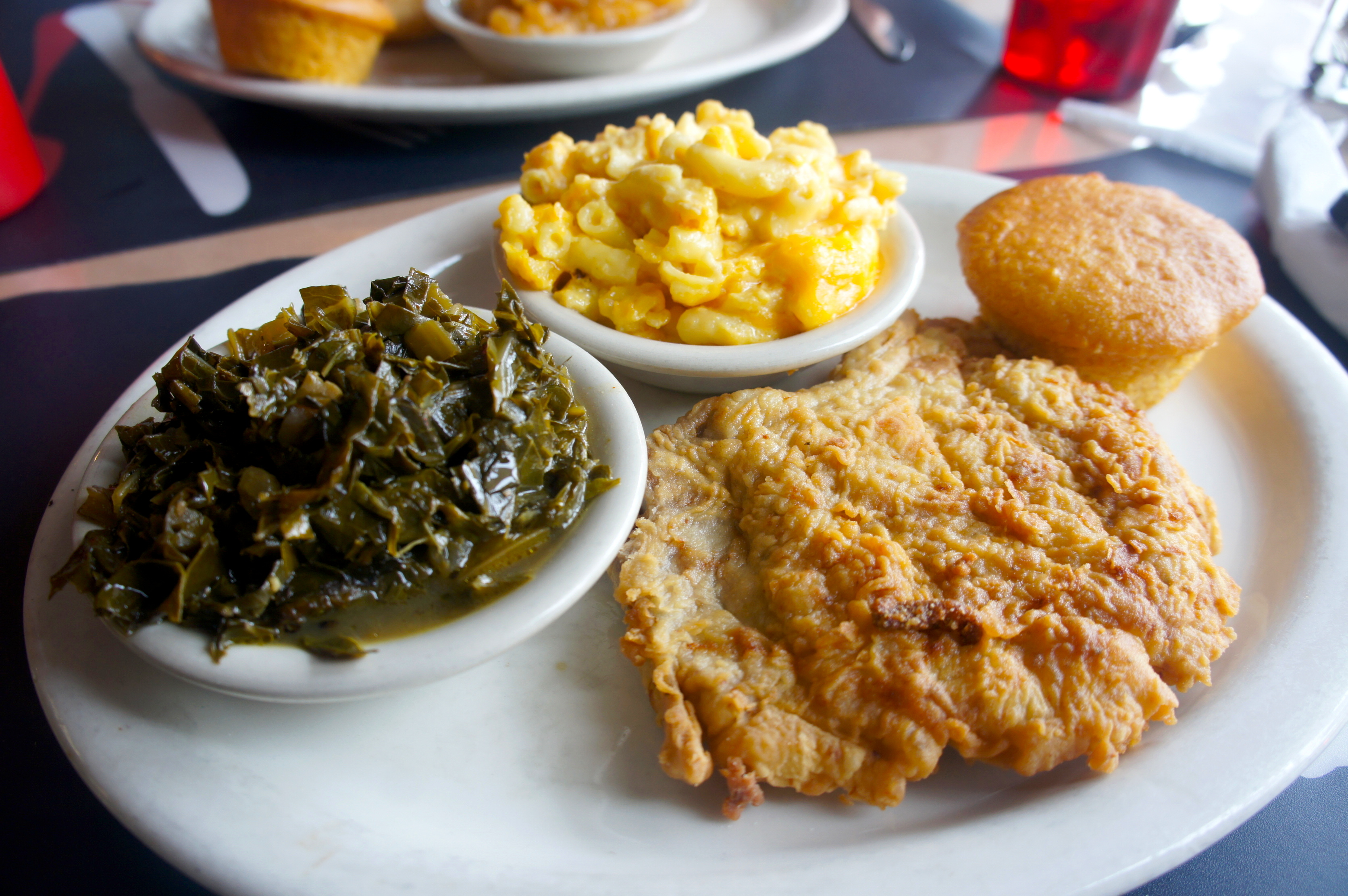 Southern comfort soul food at nikkis place downtown orlando fried pork chop before being smothered forumfinder Image collections