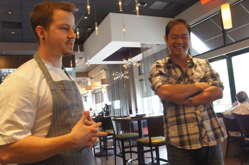 Chef Austin Boyd with Seito Sushi owner Jason Chin